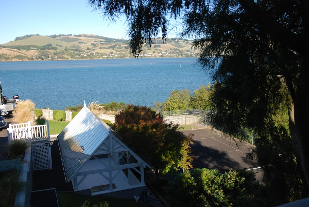 view of property , Otago harbour and peninsula from house