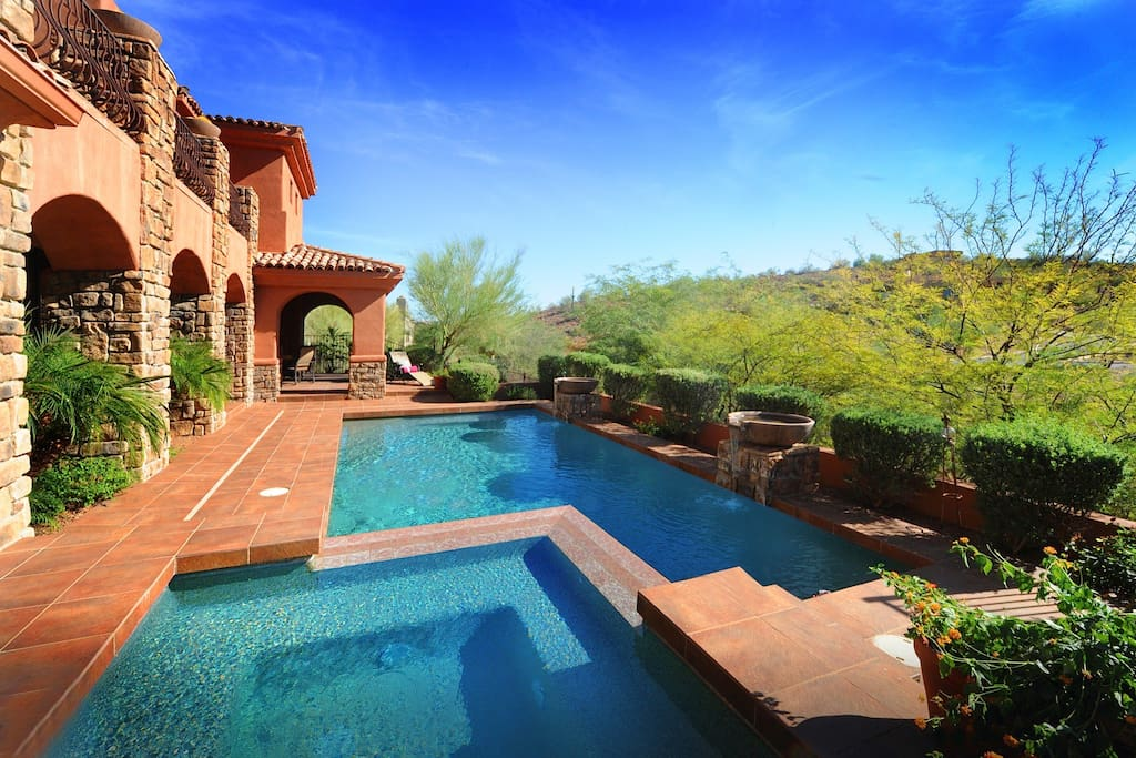 Great desert views from your private resort style estate!