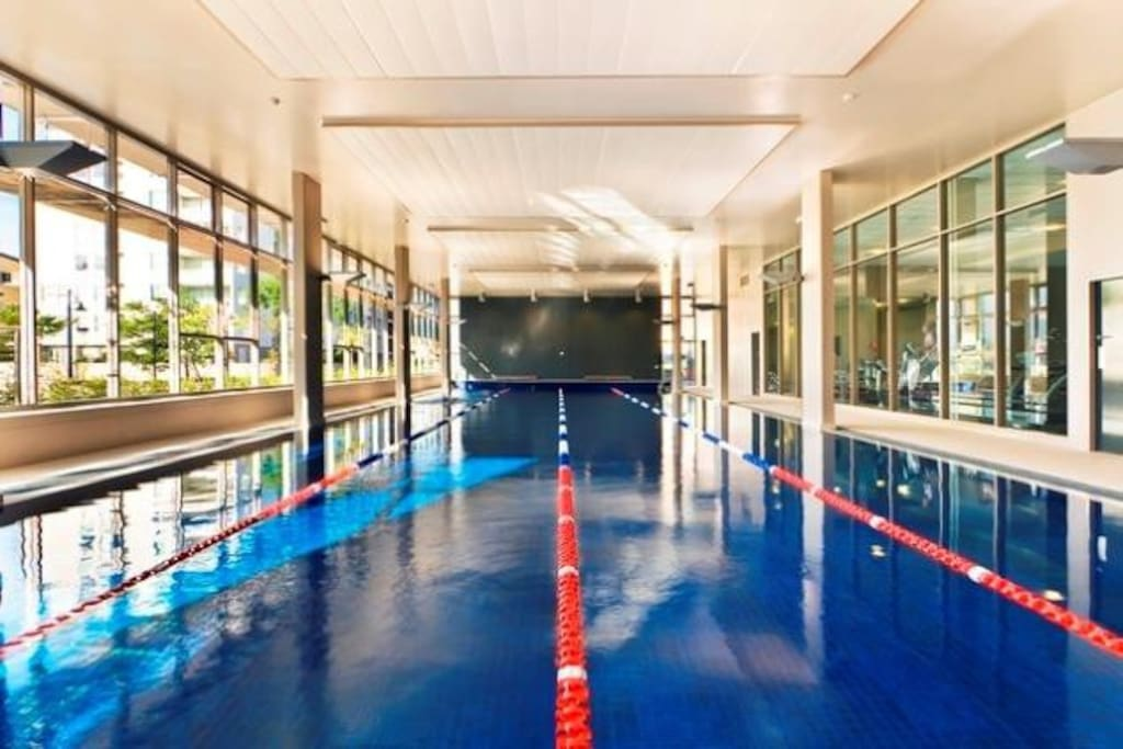 Heated indoor pool and Gym