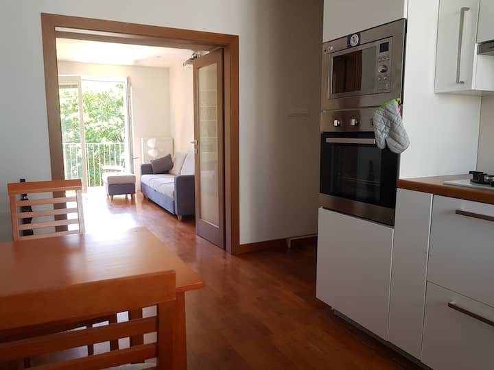 Nice apartment next to park; 5' by taxi to center