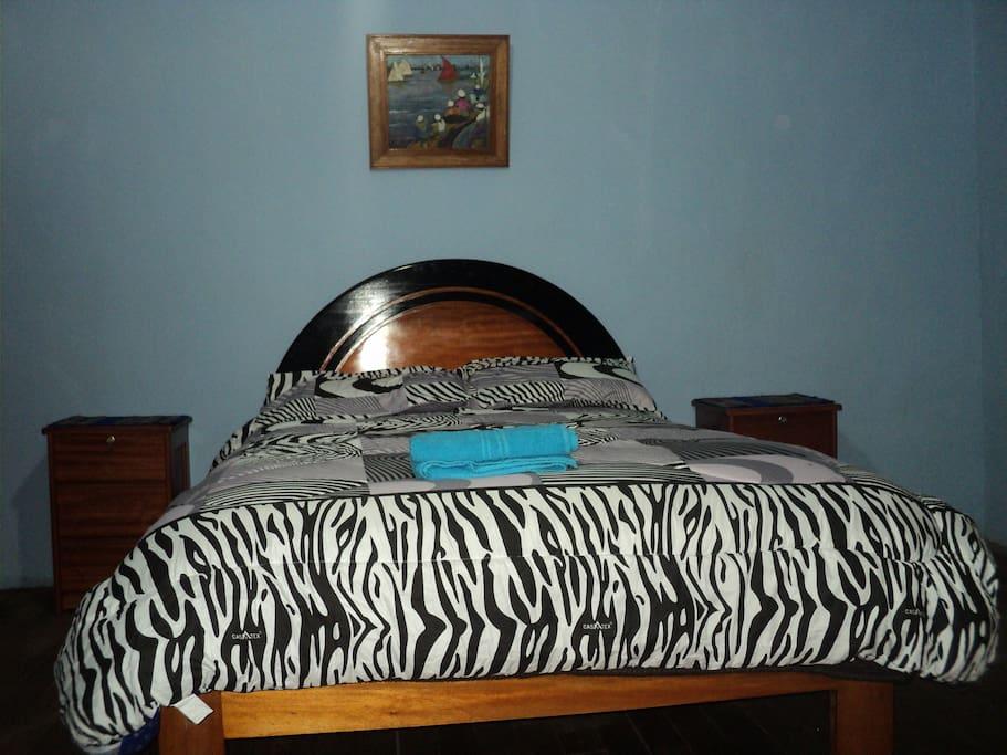 Habitación privada matrimonial, muy confortable para un buen descanso.