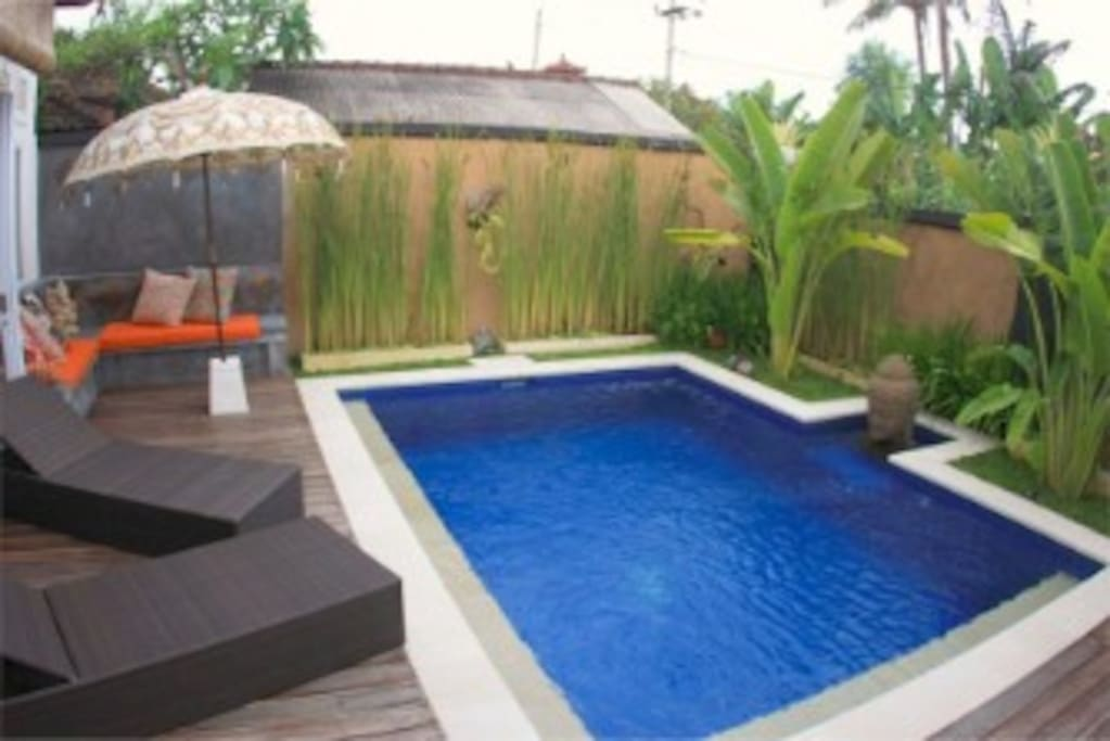 Clean sparkling private pool for your enjoying right at your doorstep.