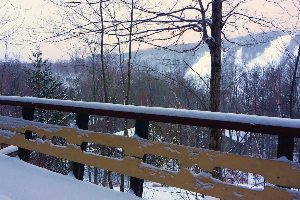 Deck looking on to Ski Hills
