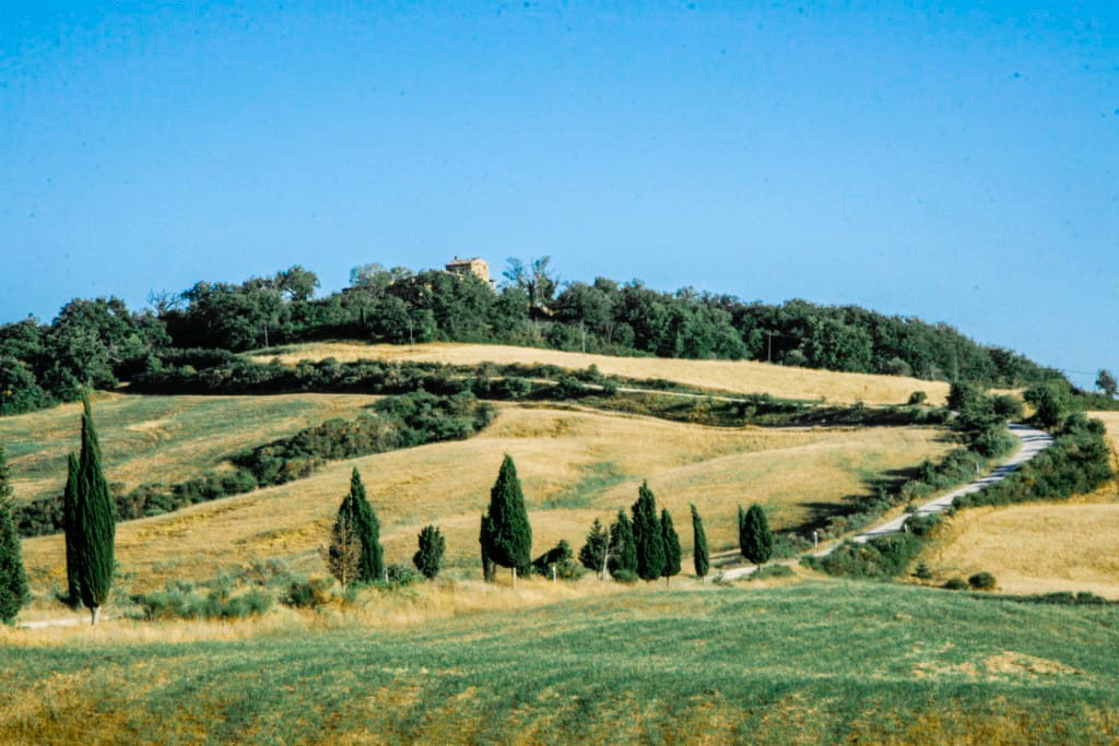 Lucignanello is located on the top the hill