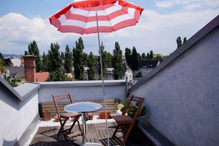 Roof apartment 78m² with terrace 10m²