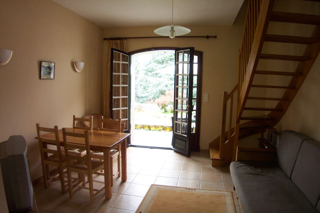 The Couraduque apartment living room