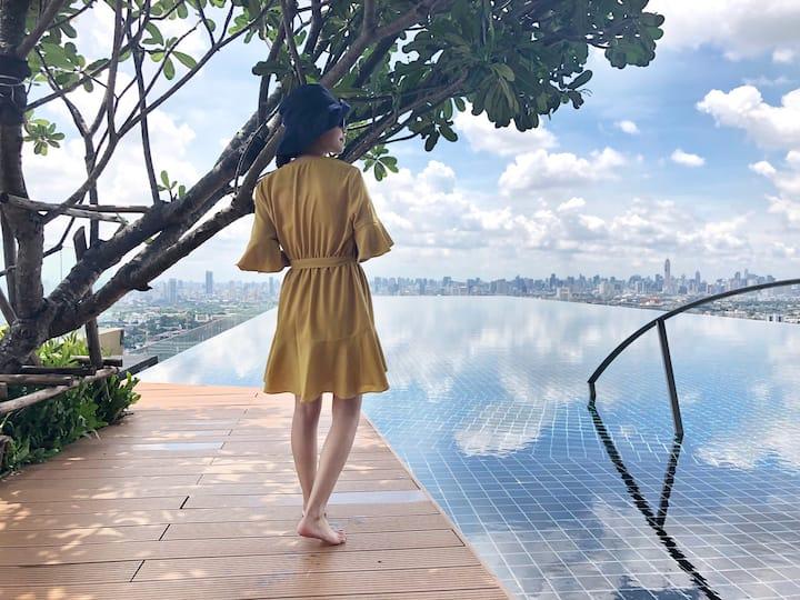 Fancy Sky Pool 【MRT Bang O】天际泳池•Piscina al Cielo