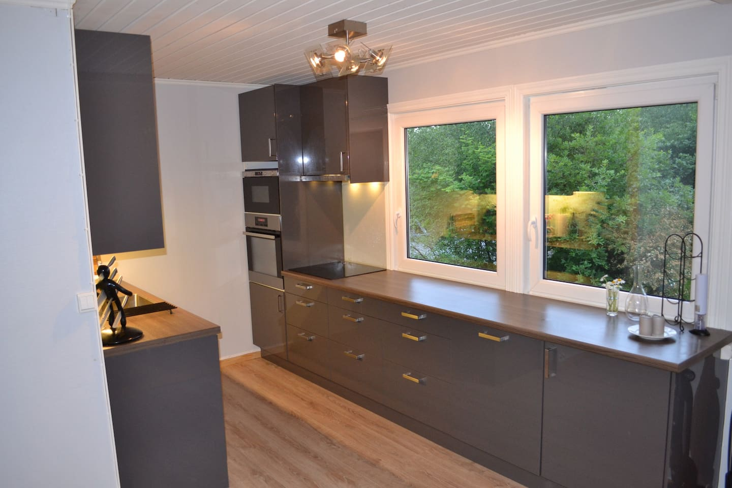 Flott nyoppusset kjøkken med alt av hvitevarer  New kitchen with all you need to make yourself a nice meal