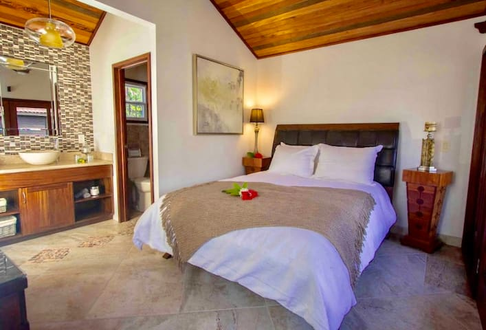 """""""The rooms are top rate with the extra amenities you enjoy on vacation. Beds are very comfortable, private cabanas, hot water and reliable WiFi."""" ~Adam"""