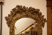 Circa 1850 gilded peer mirror. Experience the gilded age close up and 1st hand.