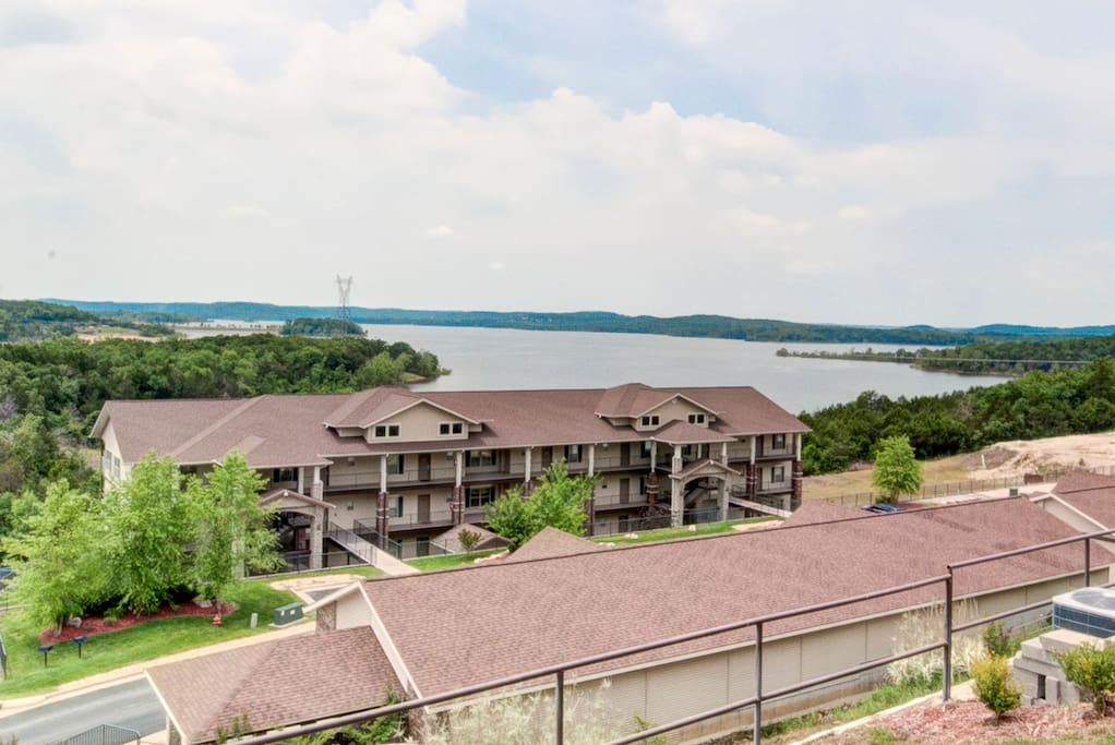 Our Bldg. #4  and Table Rock Lake as viewed from the pool deck.