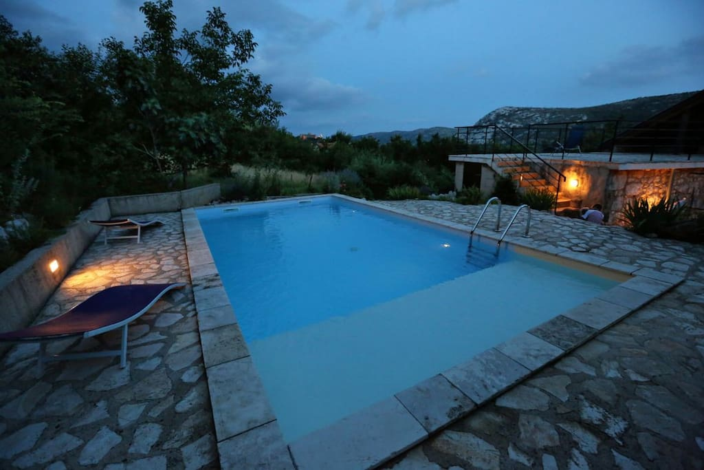 Pool, especially the shallow part, our guests often quote is their favorite place