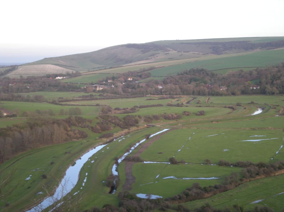 10 minutes stroll to the Cuckmere valley