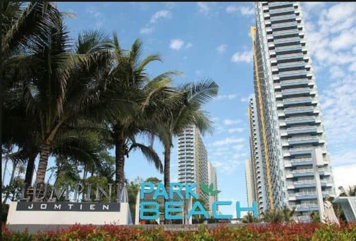 中天海滩两卧海景或城市景3 Lumpini Jomtien sea or city view