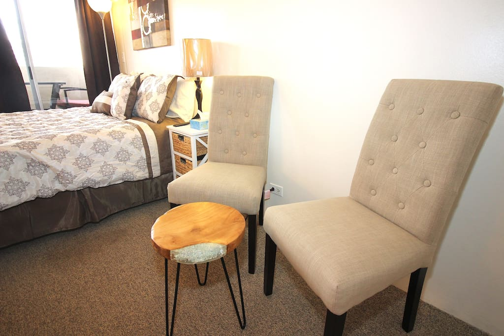 2 comfortable chairs