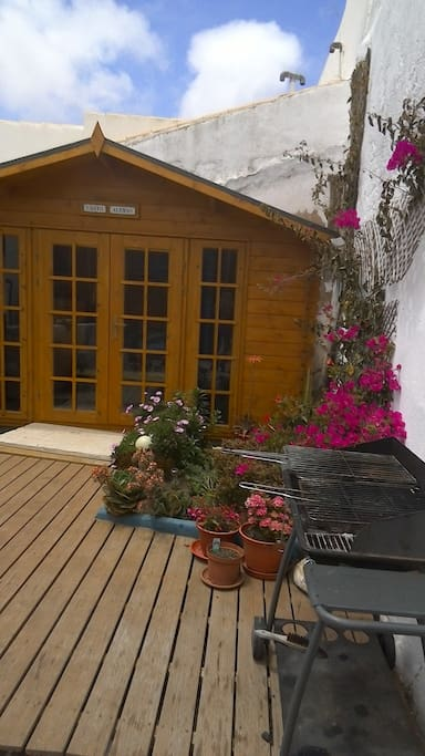 private wooden bungalow