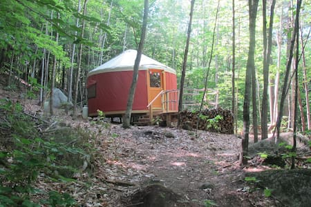 """Sunset Yurt"" Off Grid Mountain Yurt"