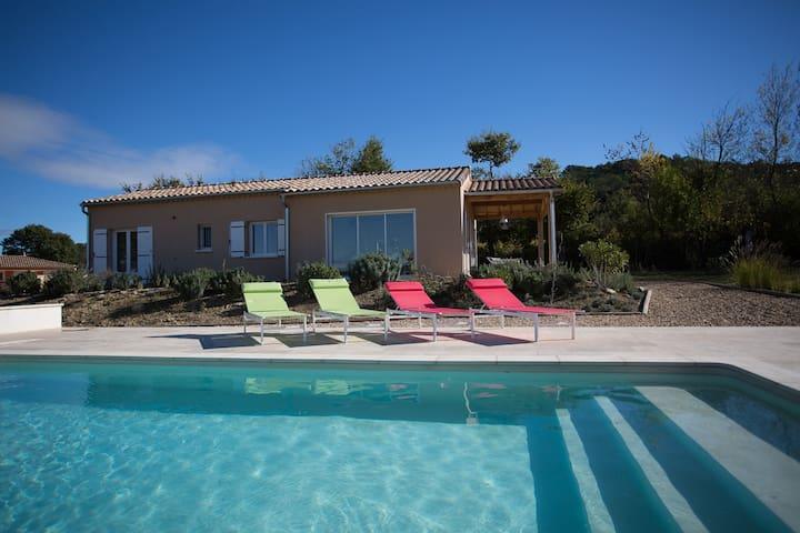 Villa met prive zwembad Moulézan, Gard - Moulézan - Ev