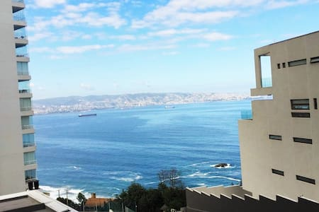 Reñaca de lujo Vista al Mar piscina temperada