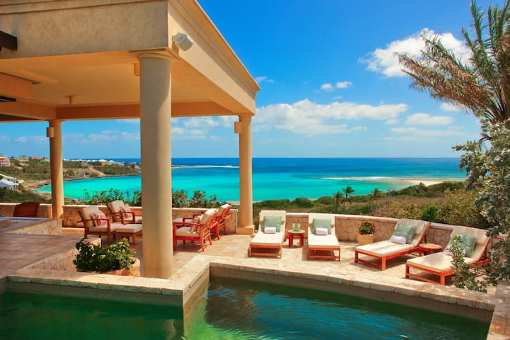 Beach Villa with Two Pools