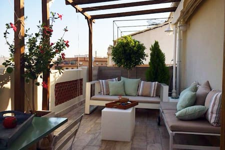 Cosy, sunny penthouse + wifi - Valencia