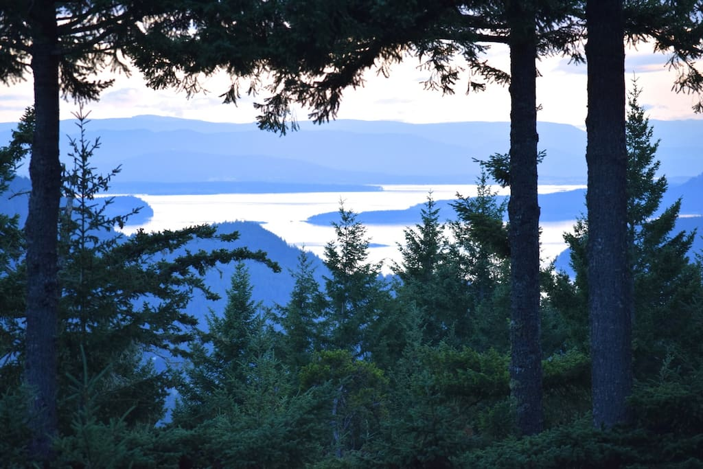 meditate with the late-afternoon view toward Vancouver Island