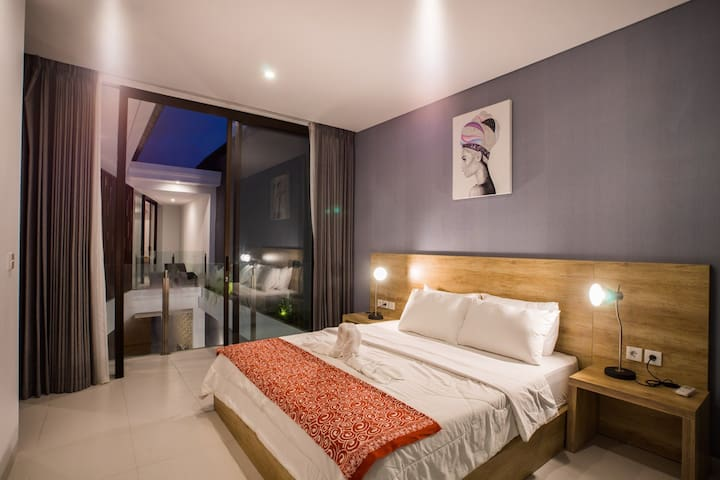 Second bedroom at upstair with pool view