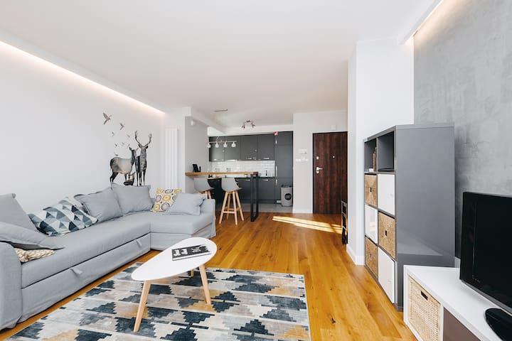Peaceful & futuristic flat Warsaw, Praga Południe