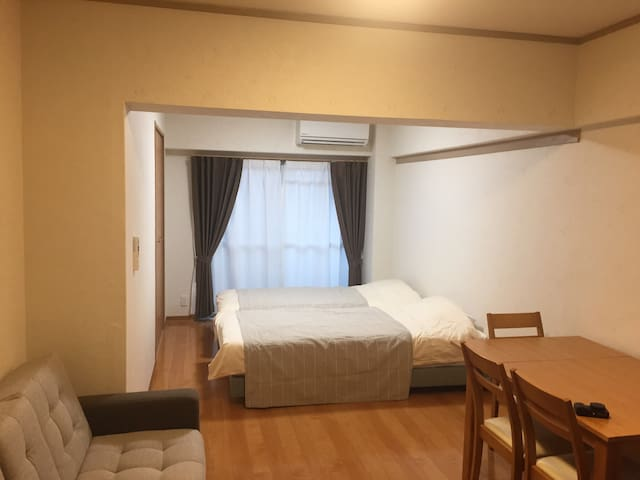 Easy to access Hakata, Tenjin, Dazaifu. Free Wifi