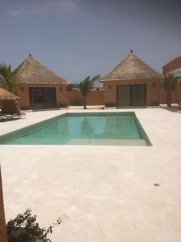 Belle villa afro-contemporaine à Saly-ngaparou