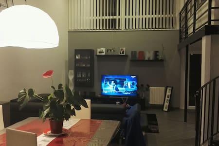 Chambre et mezzanine dans loft à St Etienne - Saint-Étienne