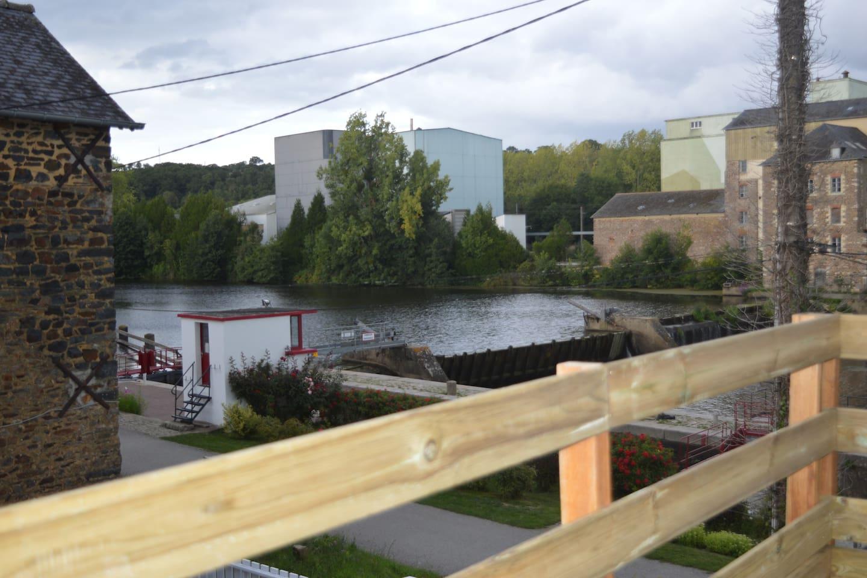 Macaire, la rivière la Vilaine, son écluse...