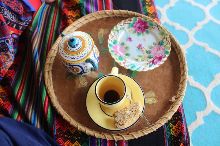 Start you day with aromatic Haitian grown coffee.