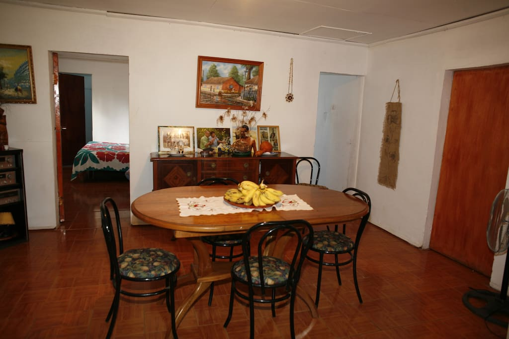An Inside dinning room for the guest to share