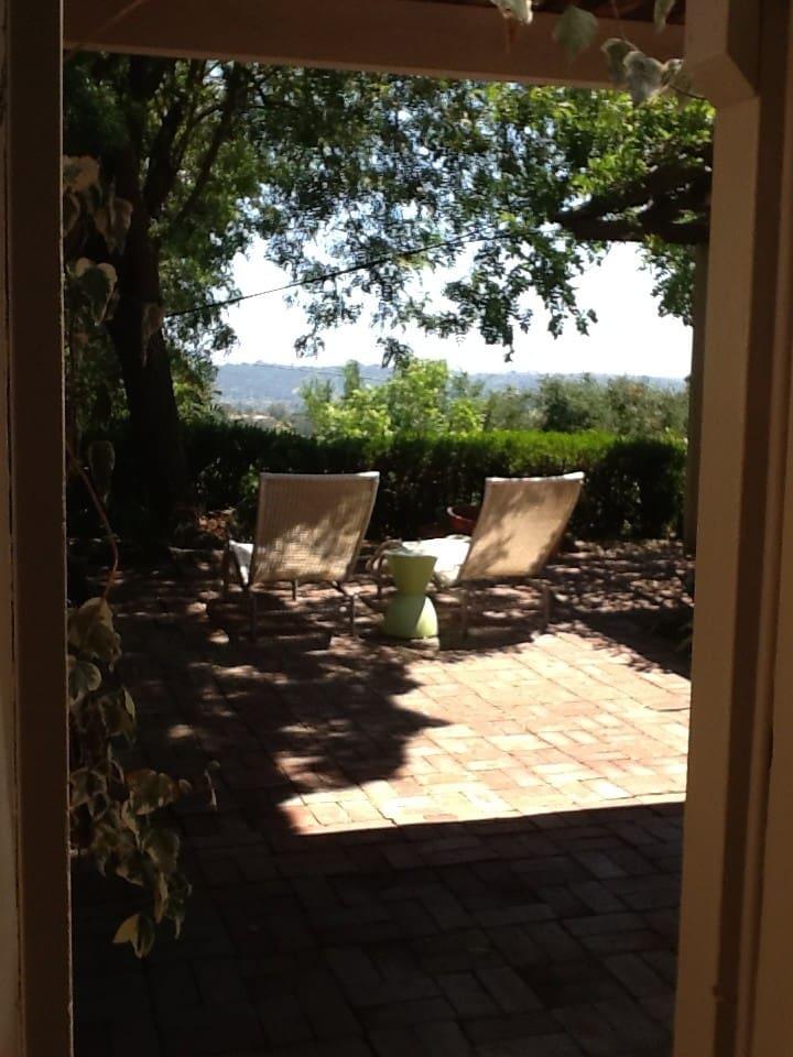 Private studio in garden setting