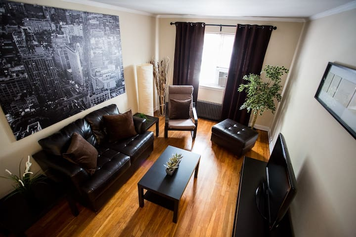 New 2 Bed.apt. 10 min to NYC! one block from train