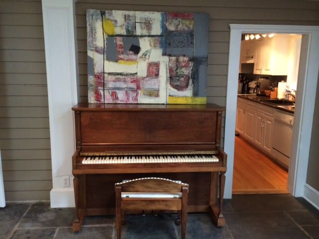 Piano in living / dining room.