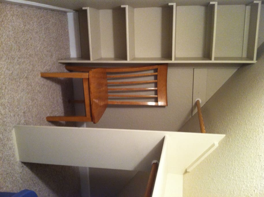 Walk-in closet with plenty of storage