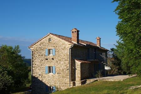 Steinhaus mit Sauna AZZURRO - Grožnjan - Huoneisto