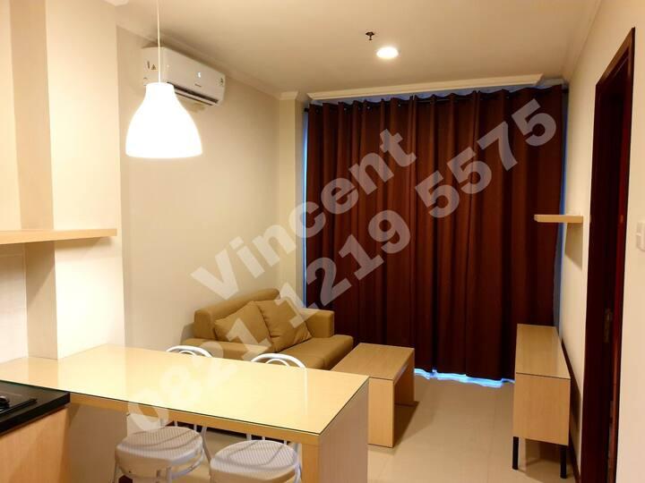Apartment 1 BR Full Furnished Vanya Park BSD City