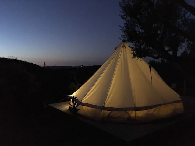 Big Belltent in the olive trees - Penela