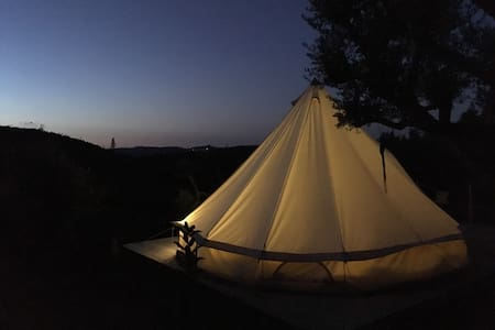 Big Belltent in the olive trees - Penela - 蒙古包
