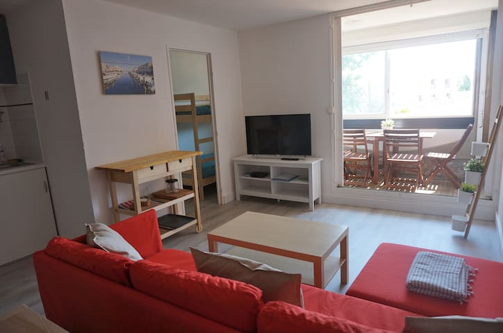 Large studio apartment 100 m from the beach