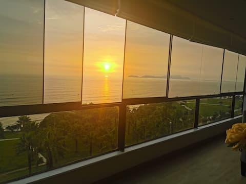 Apto con vista al mar y jacuzzi!! - 3 habitaciones