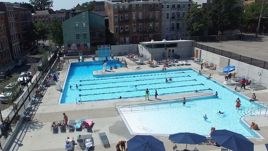 You're just blocks from Ziegler Pool, which contains lap swimming, diving, a climbing wall, and a wading area (not to mention sunbathing). Just $4 gets you in all day.