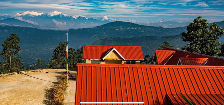 Gateway to Heaven with a backdrop of Kanchenjunga