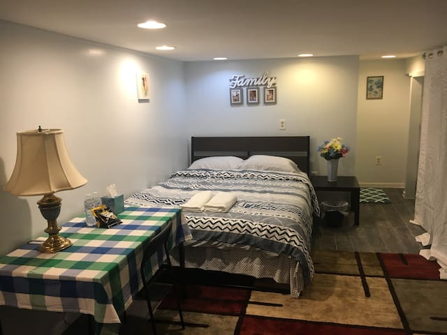 Beautiful bedroom , private bathroom in basement