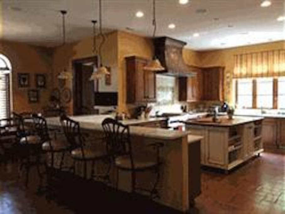Kitchen where homemade continental breakfast is served.