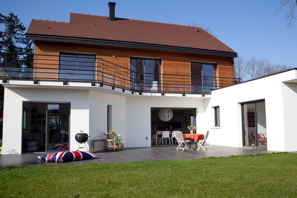 Maison d 39 architecte 20 mn de paris maisons louer for Maison d en france ile de france