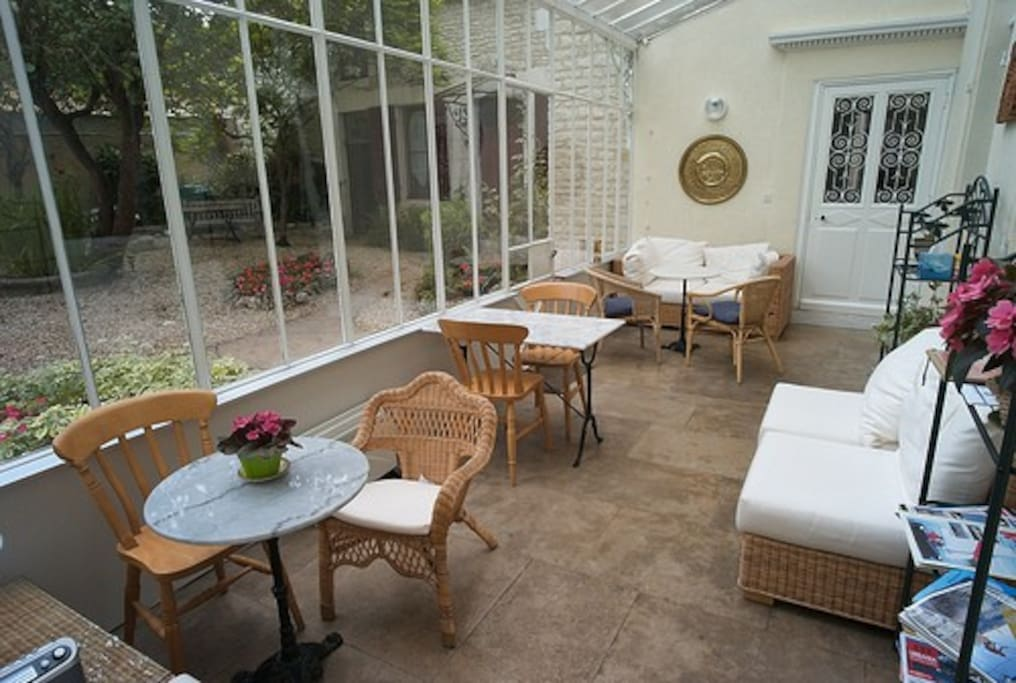 Conservatory in main house available for all guests